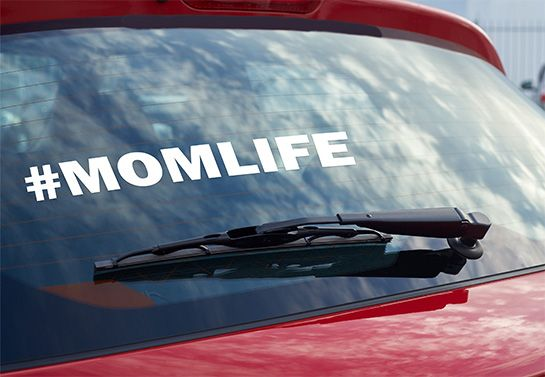 Momlife car window decal idea