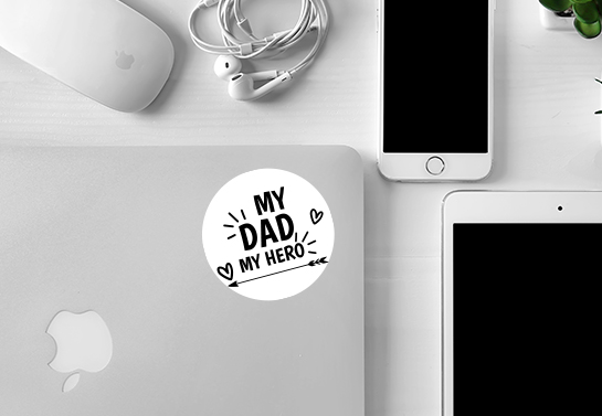 My Dad My Hero sticker gift idea