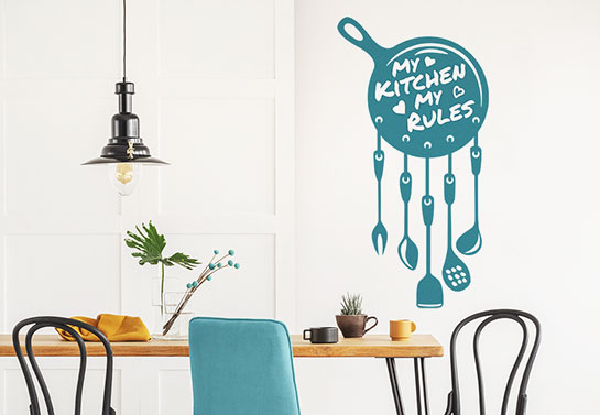 My kitchen my rules funny wall decal