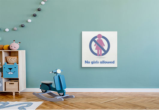 No Girls Allowed cool canvas idea