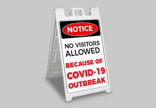 Notice coronavirus safety sign