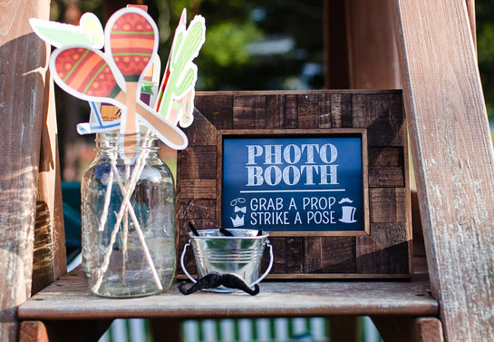 Photo booth backyard birthday party idea