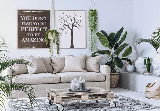 Quote living room wall decor idea