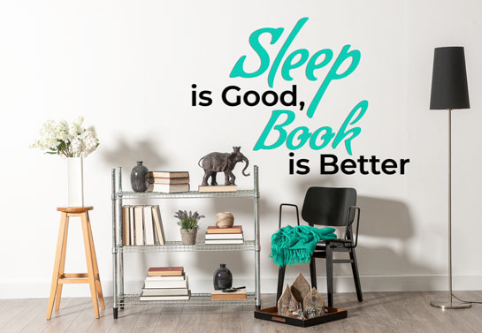 creative home office decor with wall quote print