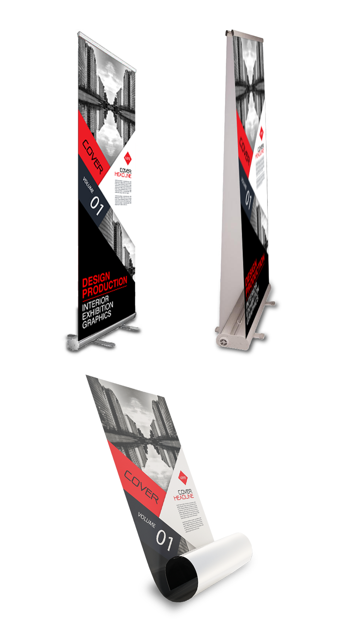 Roll up banners buying options