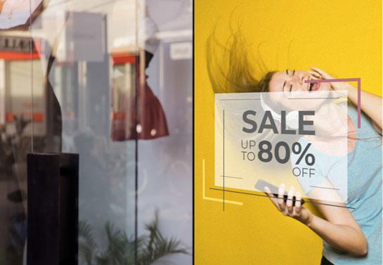 Sale store window decal idea