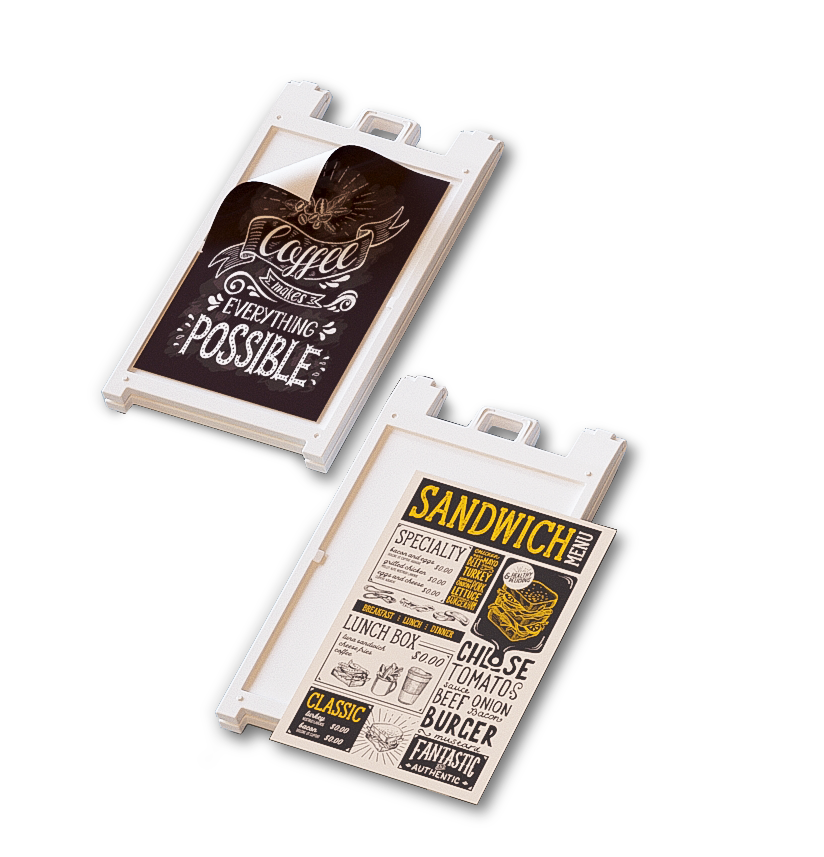 Sandwich boards buying options
