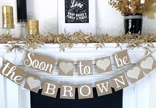 Soon To Be bridal shower decor idea