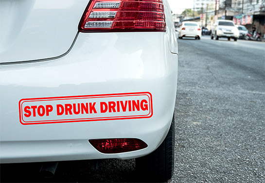 Stop Drunk Driving bumper sticker idea