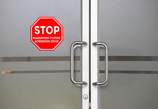 Stop workplace safety warning window decal
