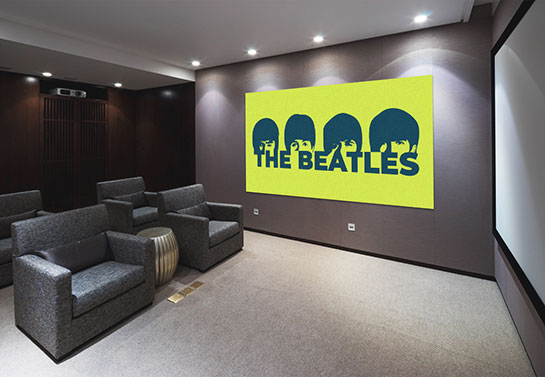 canvas design idea in electric green with the iconic The Beatles faces