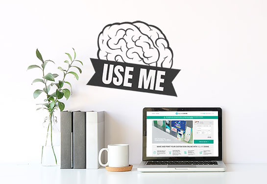 funny office wall brain-shaped decal