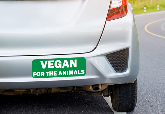 Vegan For The Animals bumper sticker idea