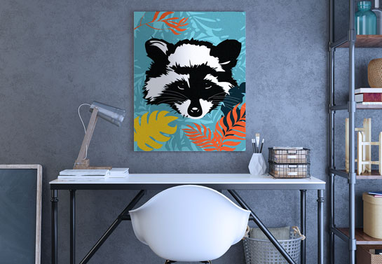 animal print canvas for embracing art in the home office