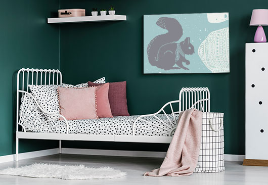 animal print girl's room decor idea