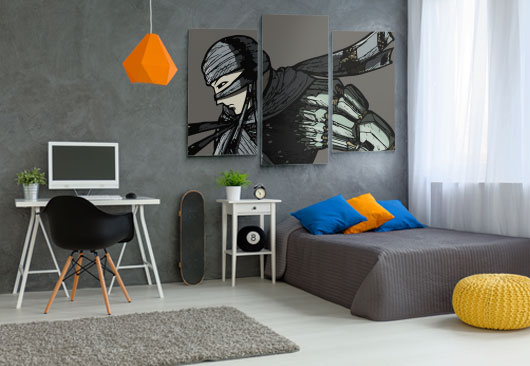 animation print boy's room decor idea