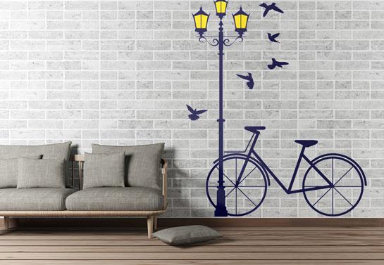 art print living room wall decor idea