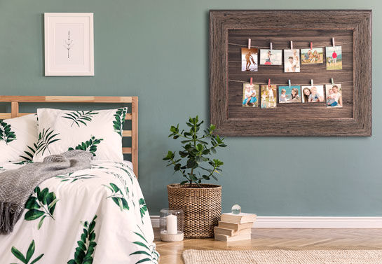 family photos easy wooden DIY decor project for bedroom