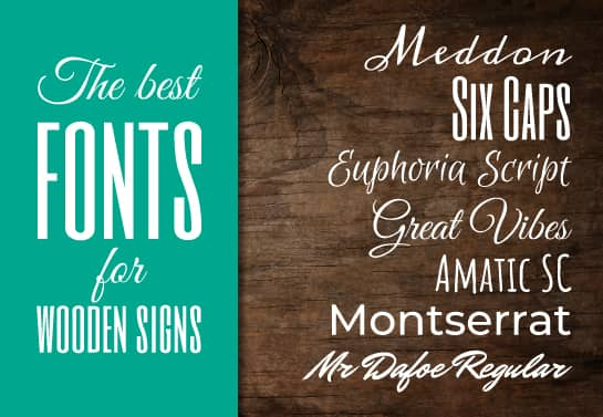 best fonts for DIY wooden signs showcased under each other