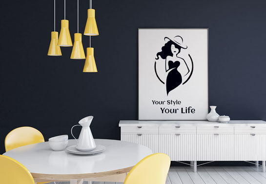elegant lady fun black and white canvas DIY project idea for home