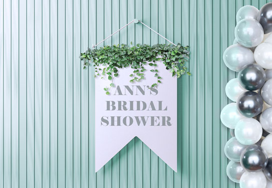 bridal shower banner idea for a party