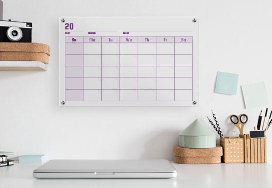 acrylic calendar for a budget friendly home office decor