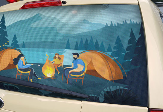 cool camping decal for back window