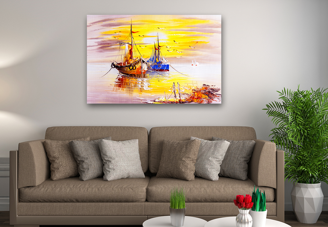 example of what a canvas print looks like with abstract imagery