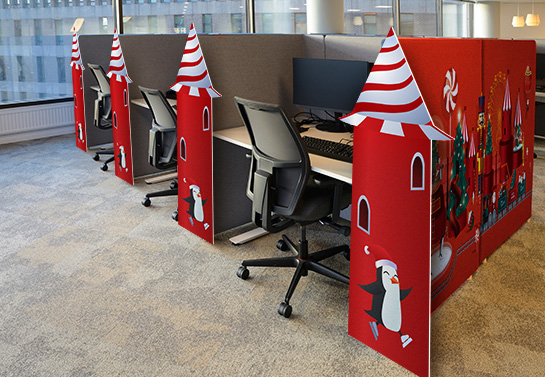 christmas office cubicle decoration idea