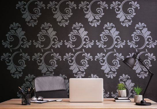 classing patterns wall decal for home office decor
