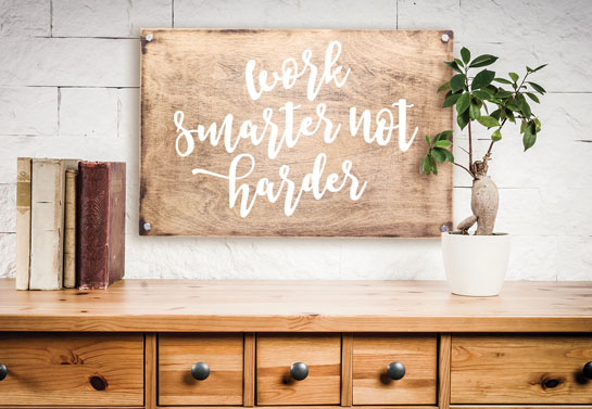 home office decor idea for a cozy look