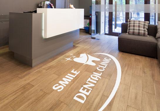 dental clinic floor sticker