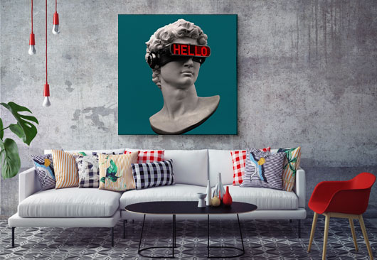 digital art canvas decor idea