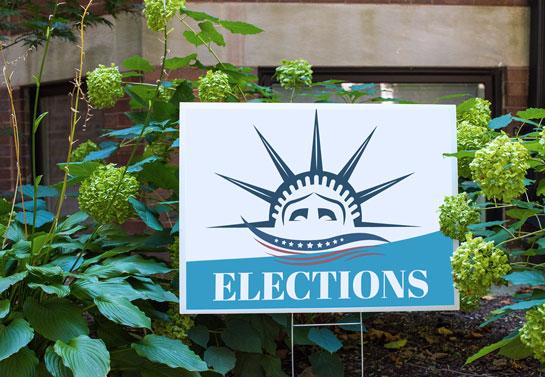 Elections political sign design idea
