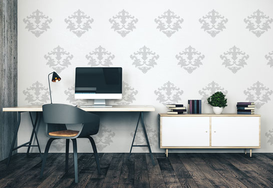 elegant wall decal for home office decorating