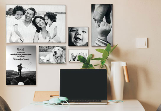 family portraits canvas prints for home office walls