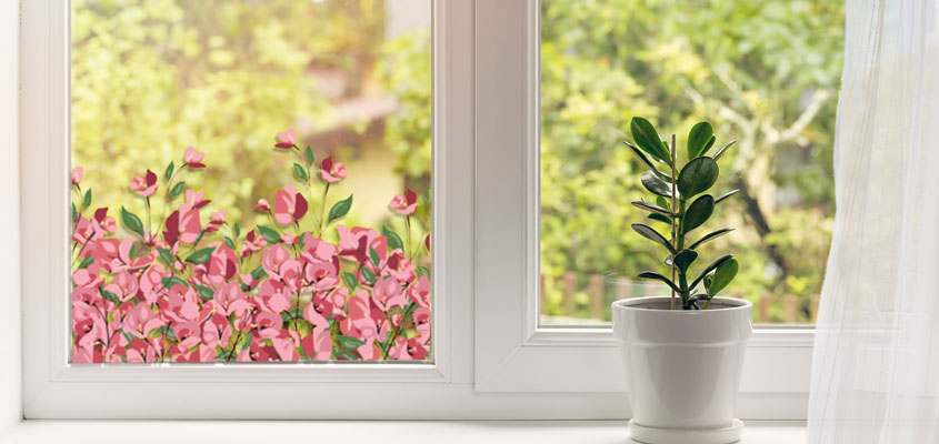 flower blossom decals for home window decorating