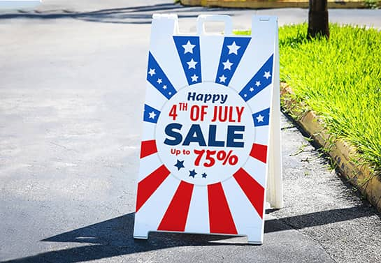 free standing 4th of July decorating idea for outside displaying Sales info