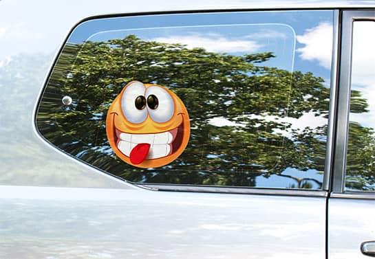funny car window decal idea