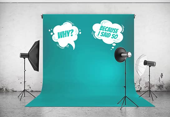 Funny mother's day photo backdrop idea in blue color