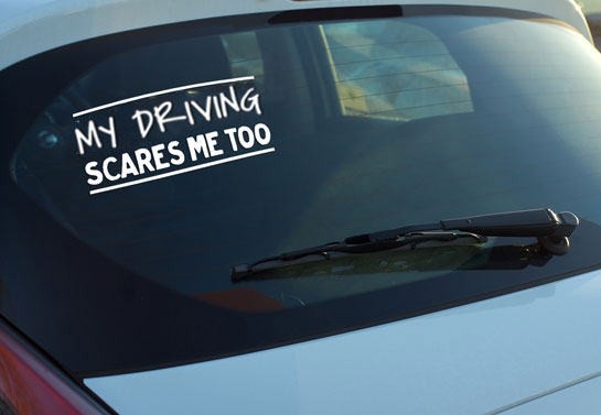 funny rear window decal for drivers