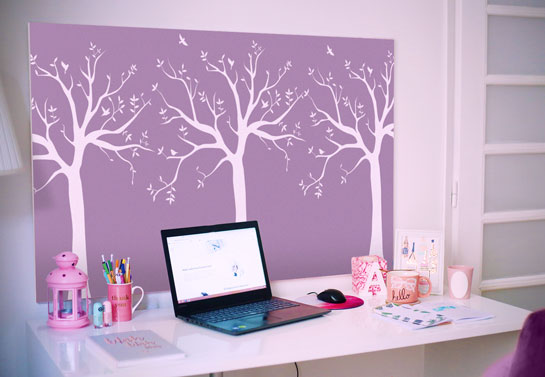 girly home office wall canvas prints
