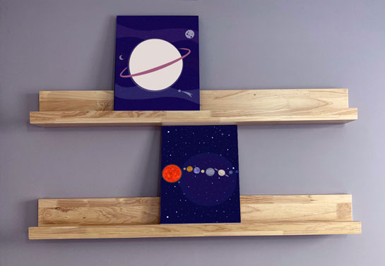 affordable home office mini canvas decor idea
