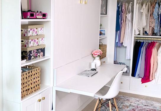 home office space saving closet