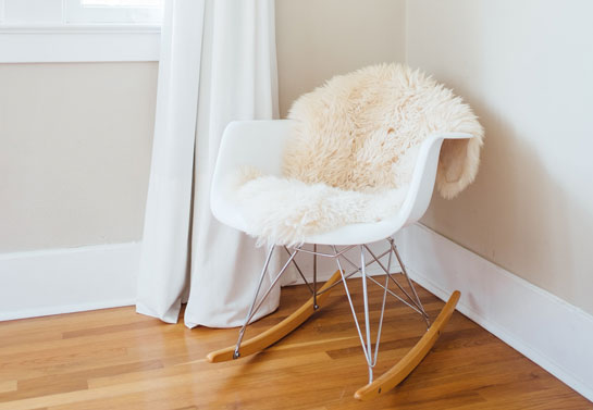 home office glam faux fur chair