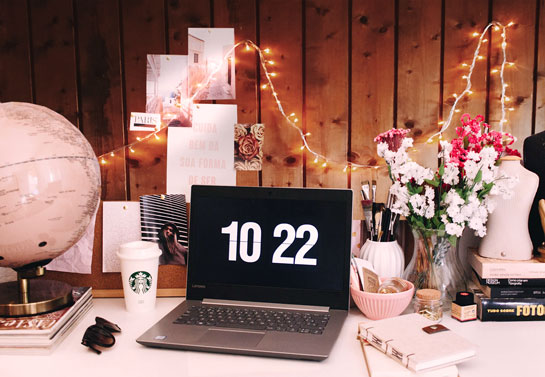 home office budget friendly illuminated decor idea