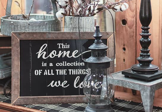 wood sign idea in black color with a home quote for decorating