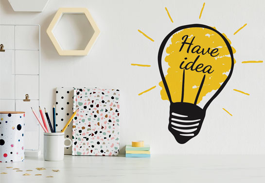 creative idea wall decal for home office decorating