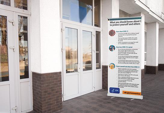 informational school banner sample displayed outdoors