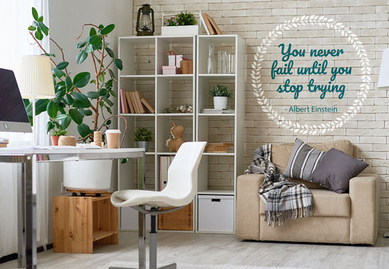 inspirational quote decor for home office guest room wall